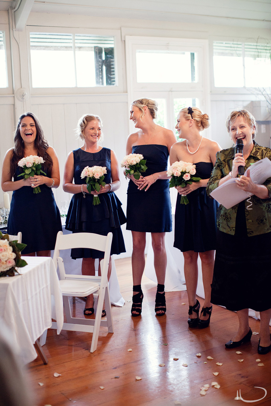 Wedding Southern Highlands: Bridesmaids during ceremony