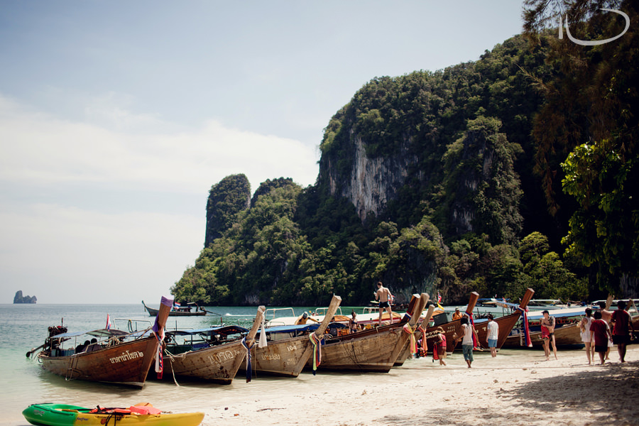 Thailand Photographer: Hong Island Longtail Boats