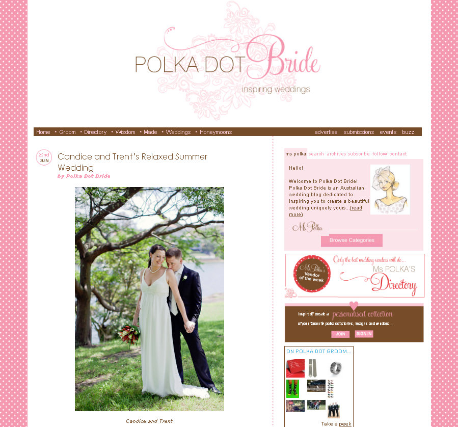 Sydney Wedding Photographer: Featured on Polka Dot Bride