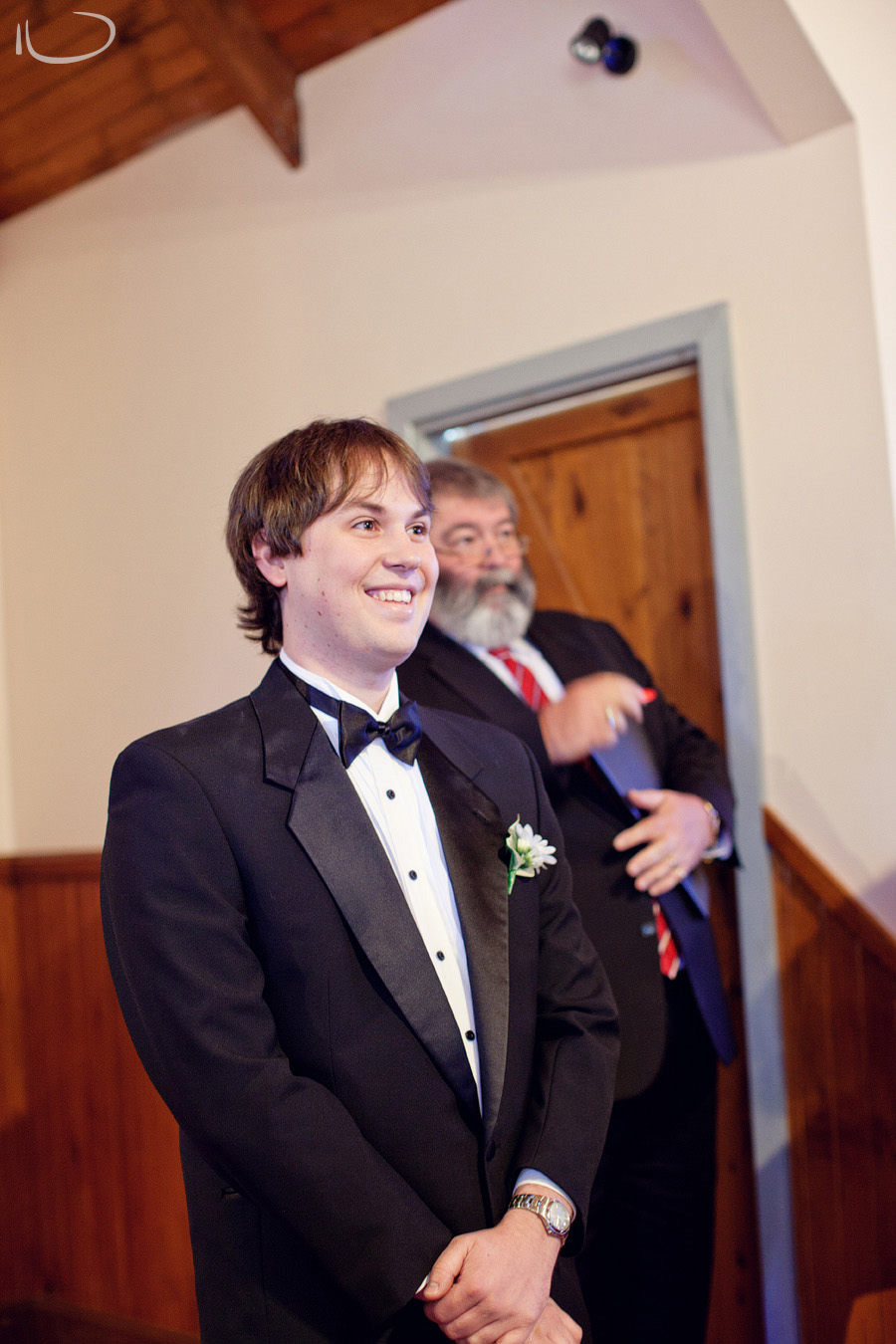 Hunter Valley Wedding Photographer: Groom reaction to seeing Bride
