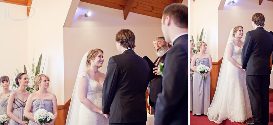 Newcastle Wedding Photographer: Bride & Groom during ceremony