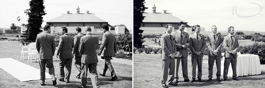 Botanic Gardens Wedding Photographer: Groom & Groomsmen before Ceremony