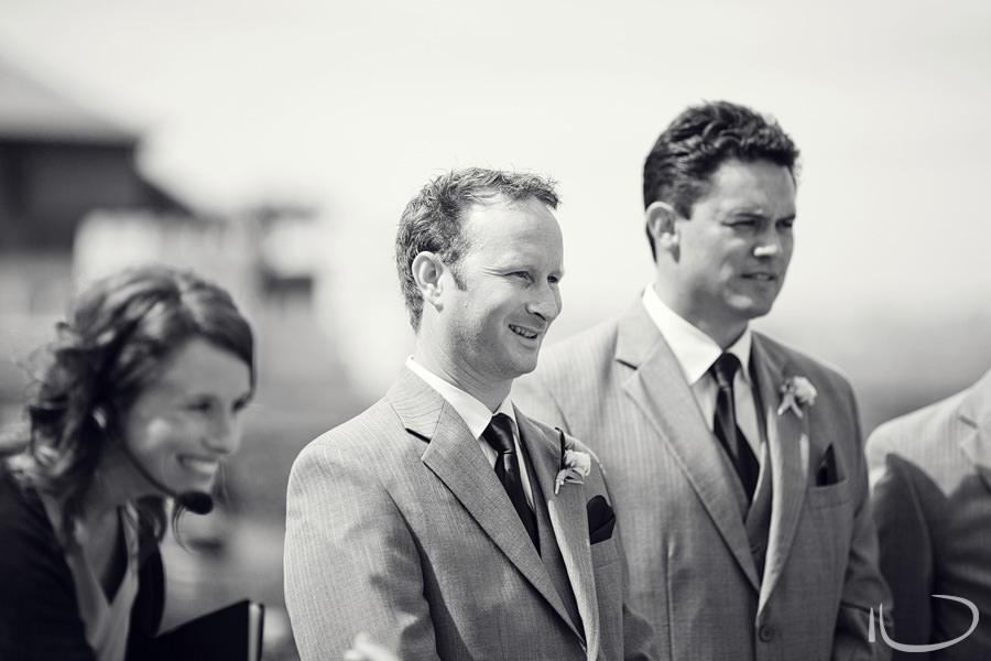 Botanic Gardens Wedding Photographer: Groom's reaction to seeing Bride