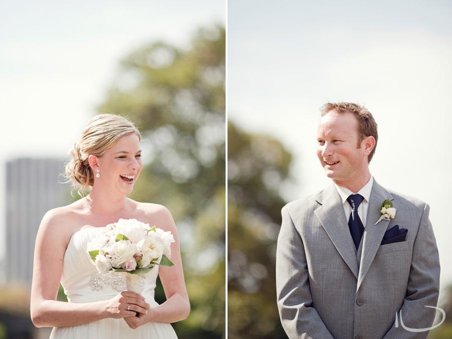 Botanic Gardens Wedding Photographer: Bride & Groom during ceremony