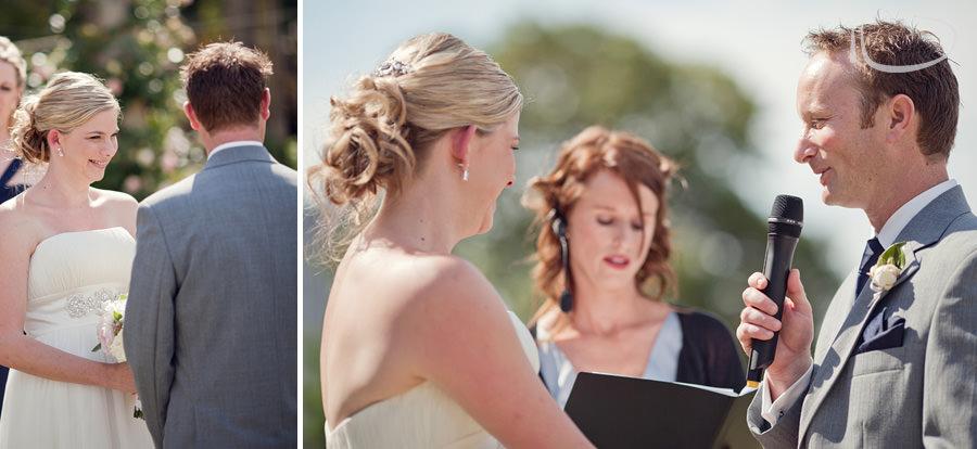 Botanic Gardens Wedding Photographer: Bride & Groom saying vows