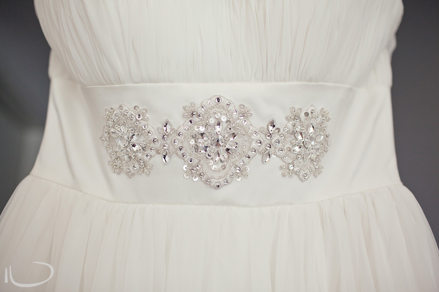 Cronulla Wedding Photographer: Bride's dress detail