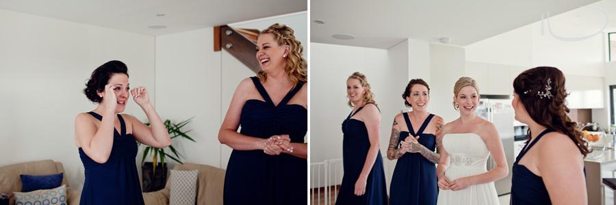 Cronulla Wedding Photographer: Bride with bridesmaids