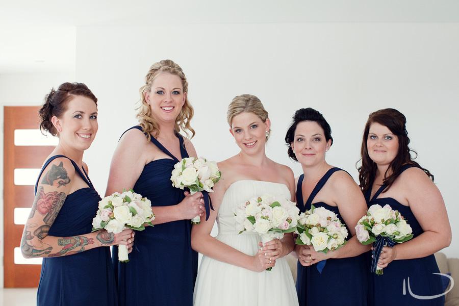 Cronulla Wedding Photographer: Bride & bridesmaids portrait