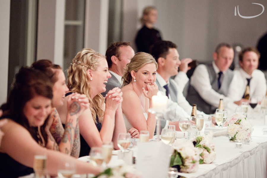 Crystal Palace Wedding Photographer: Bridal party listening to speech
