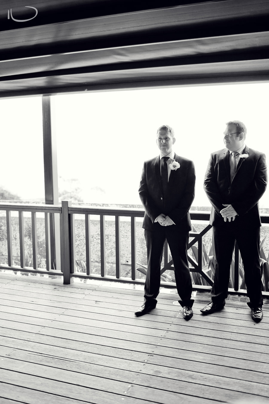Gunners Barracks Wedding Photographer: Groom waiting for bride