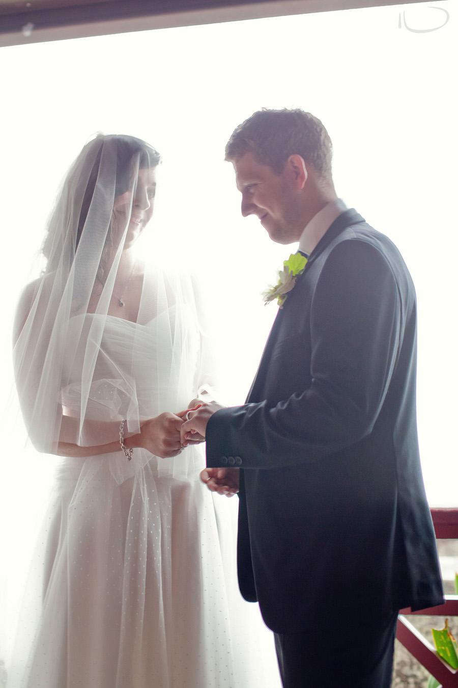 Gunners Barracks Wedding Photographer: Exchange of rings