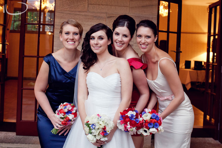Gunners Barracks Wedding Photographer: Bride with Bridesmaids