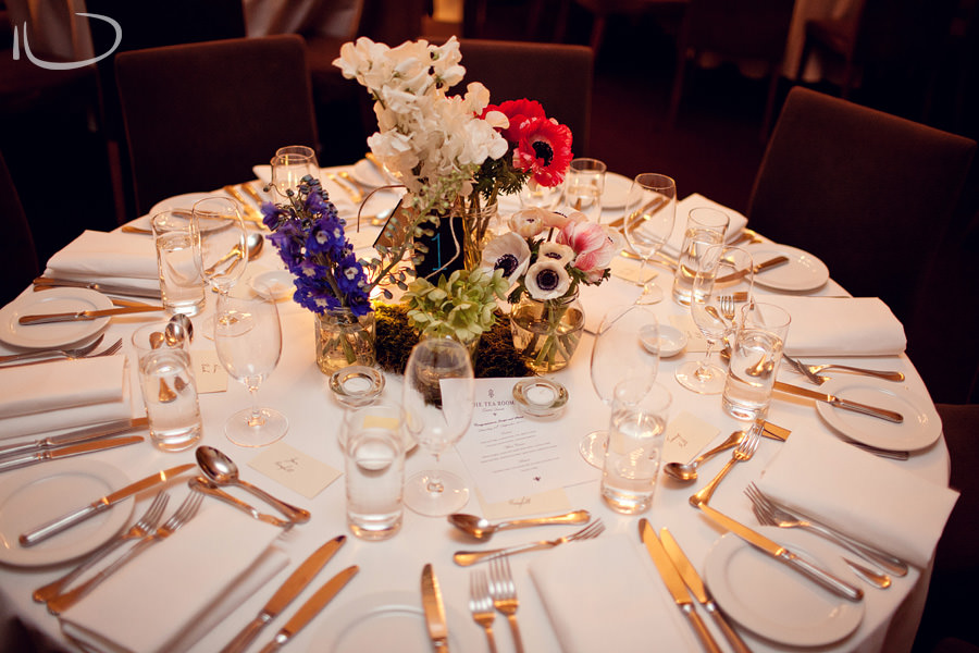 Gunners Barracks Wedding Photographer: Reception table setting