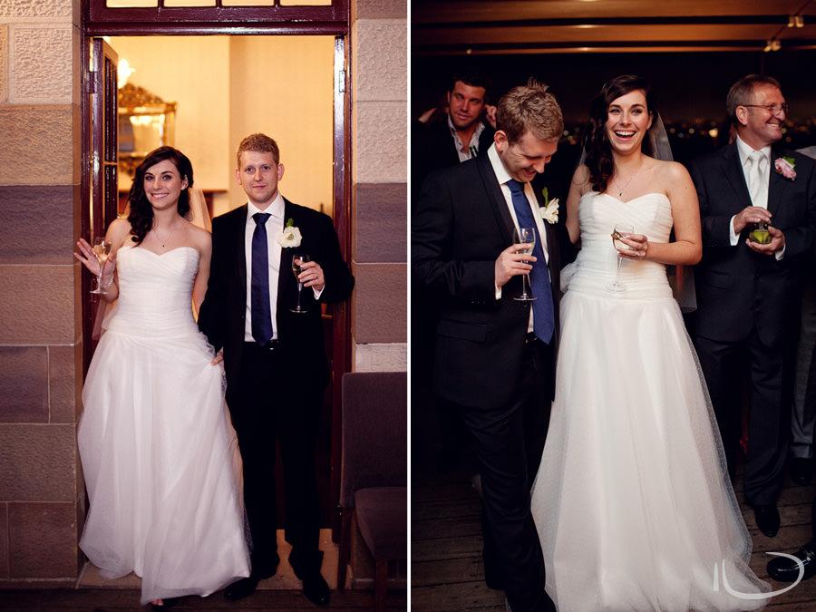 Gunners Barracks Wedding Photographer: Bride & groom arriving at reception