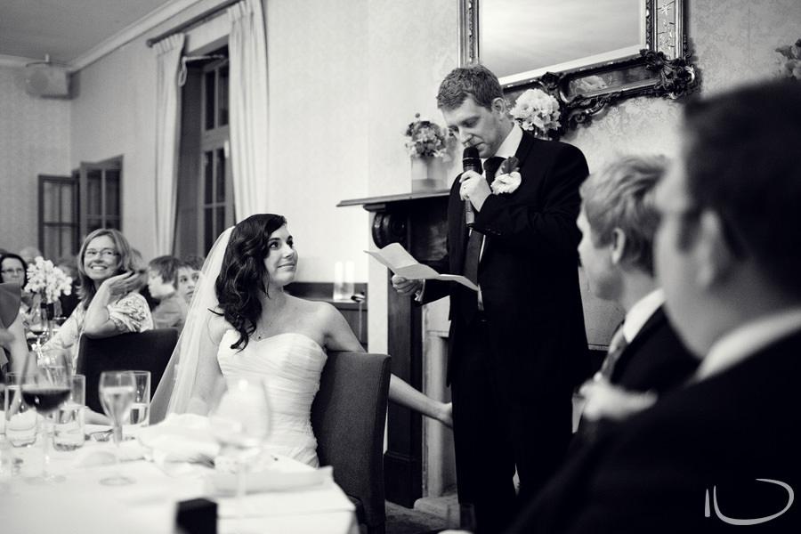 Gunners Barracks Wedding Photographer: Groom's speech