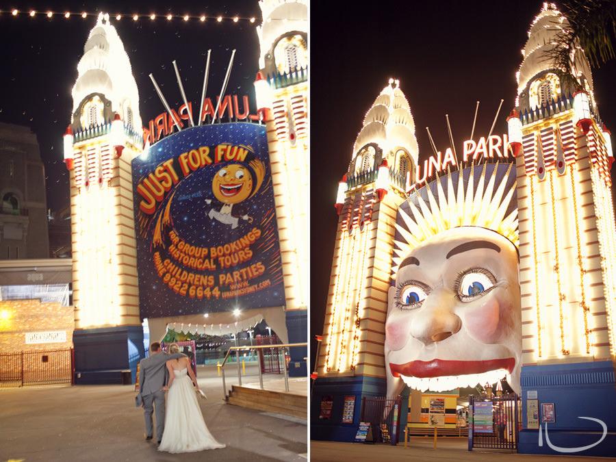 Luna Park Wedding Photographer: Bride & Groom leaving reception