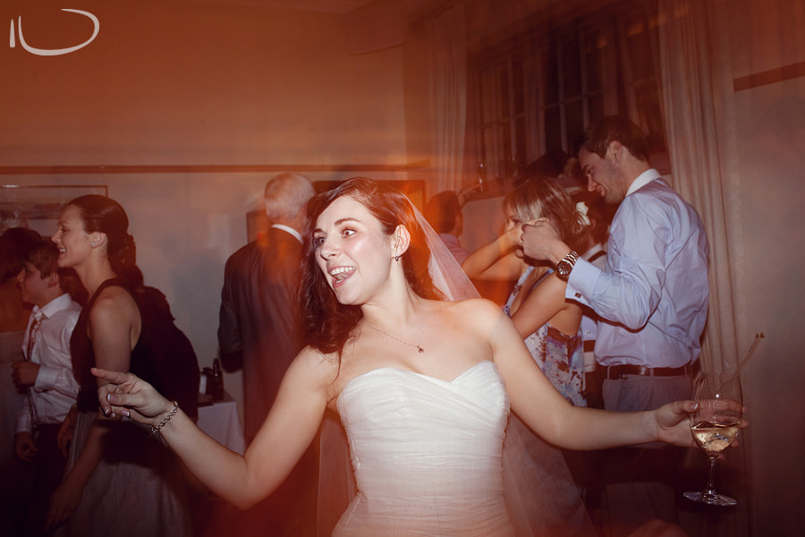 Mosman Wedding Photographer: Bride partying during reception
