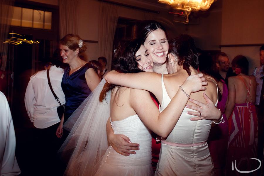Mosman Wedding Photographer: Bride farewelling bridesmaids