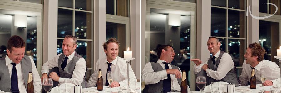 North Sydney Wedding Photographer: Groomsmen reaction to speech