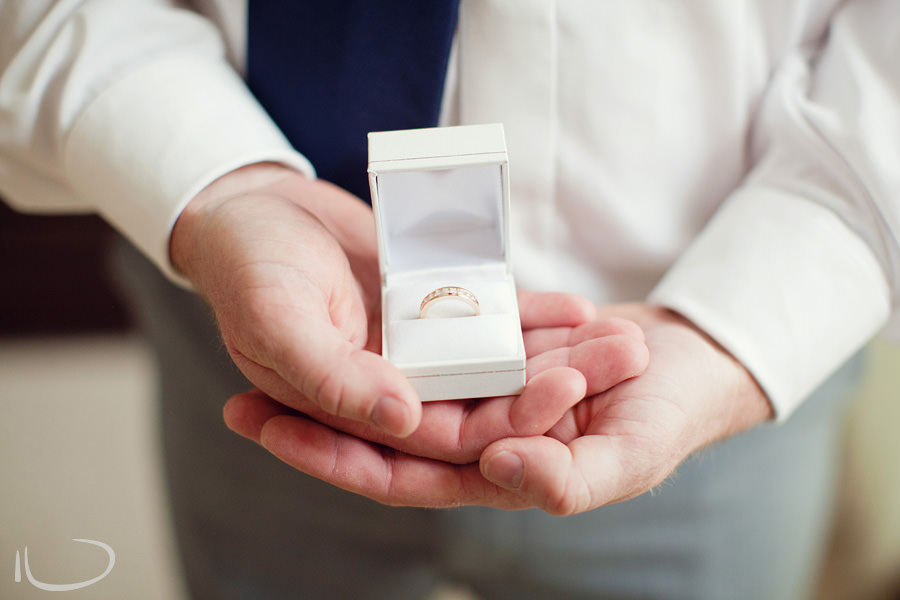 Sutherland Shire Wedding Photographer: Groom holding bride's ring