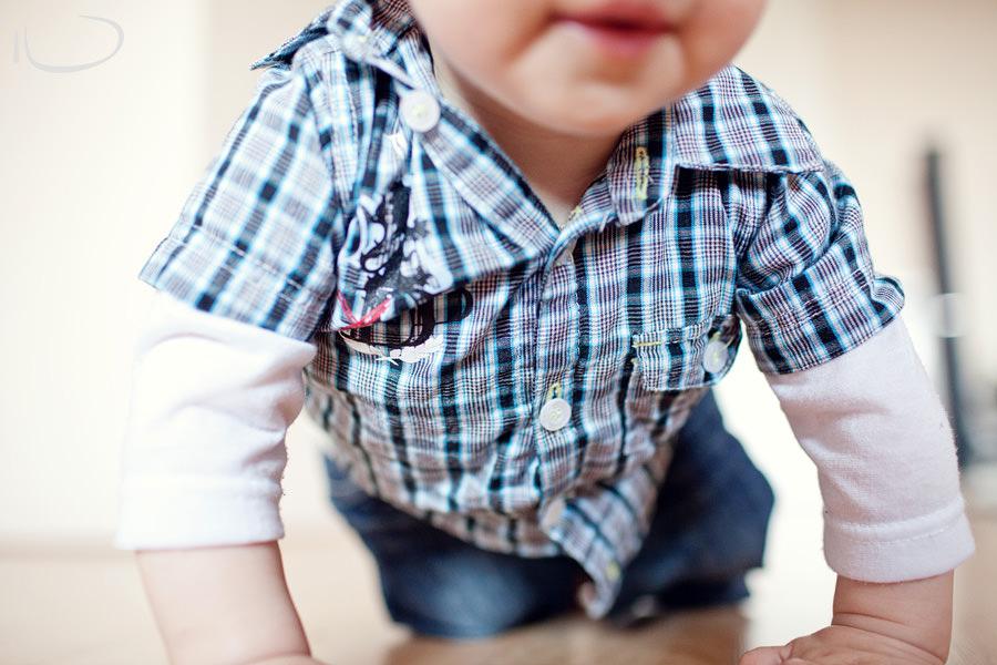 Sydney Baby Photographer: Crawling over camera