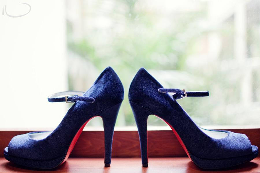 Sydney Wedding Photographer: Bride's blue shoes