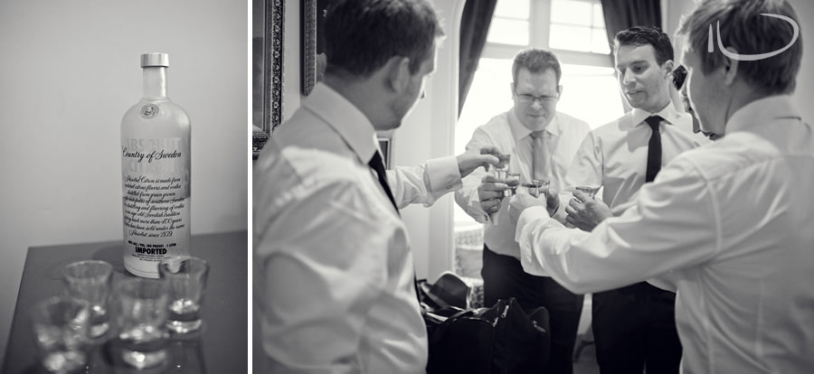 Sydney Wedding Photographer: Groom & groomsmen doing vodka shot