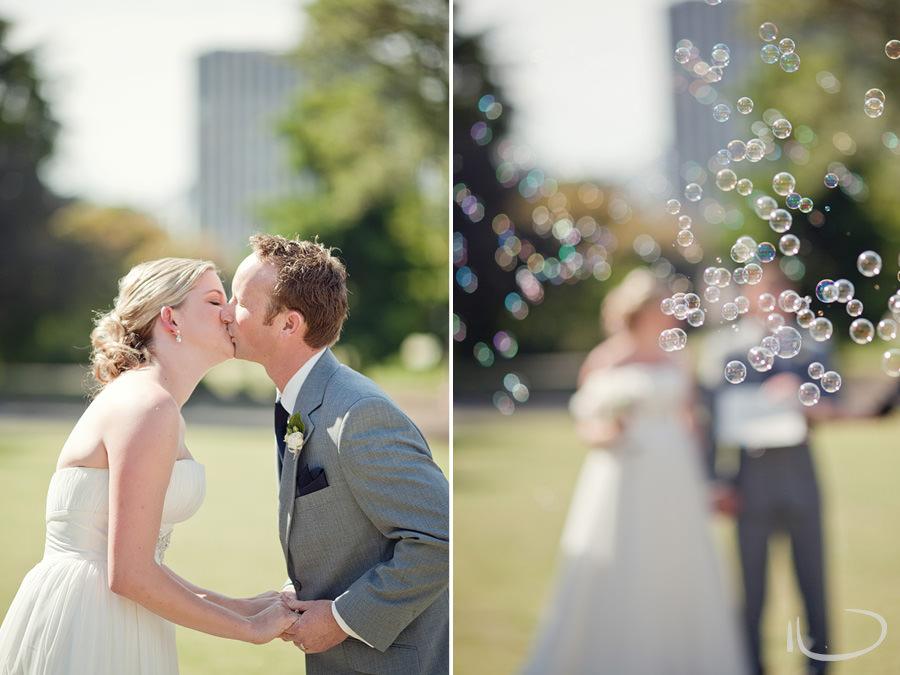 Sydney Wedding Photographer: First kiss & bubbles