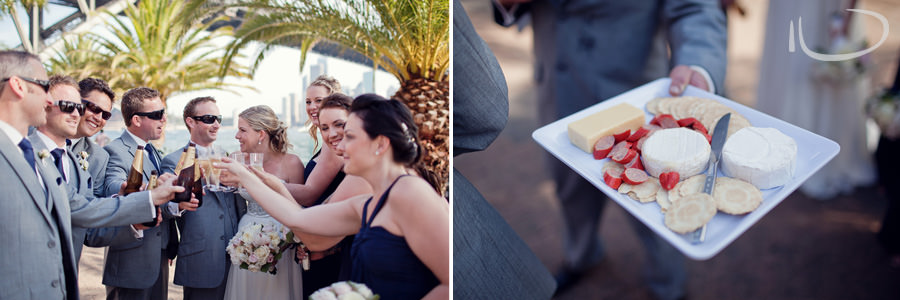 Sydney Wedding Photographer: Bridal party toast