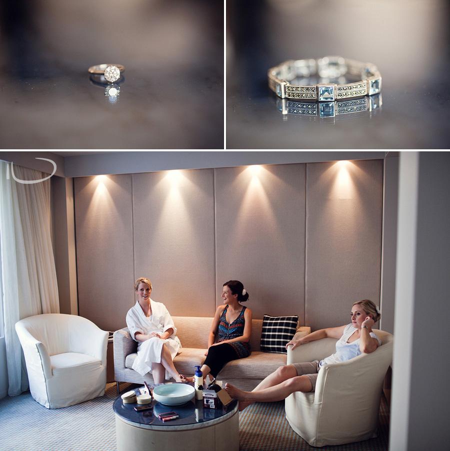 Realm Hotel Wedding Photographer: Bride & bridesmaids