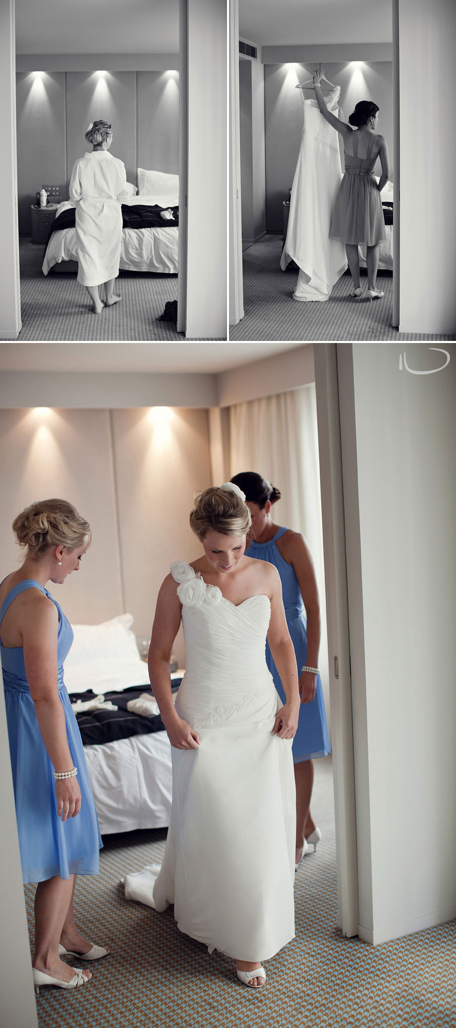 Hotel Realm Wedding Photographer: Bride getting ready