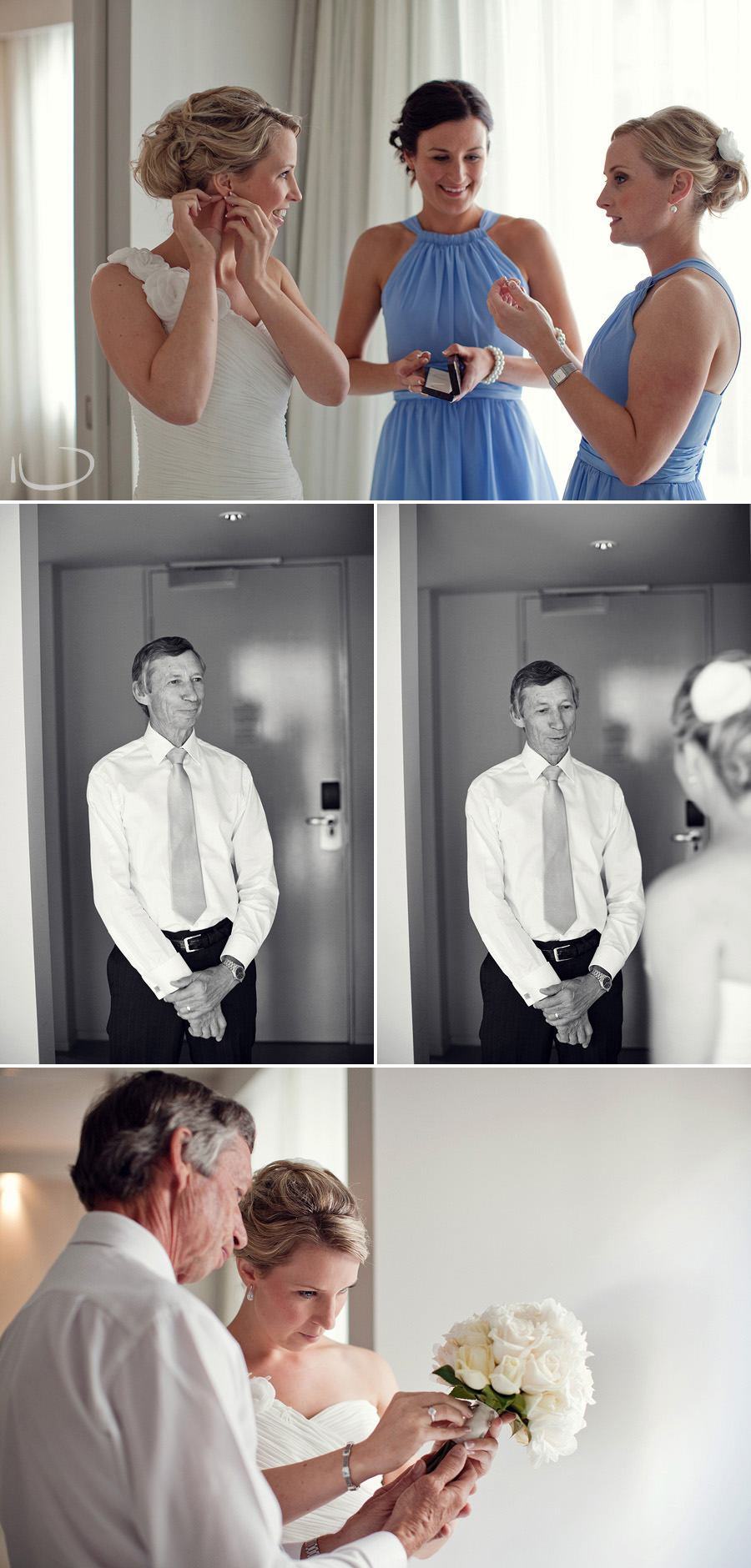 Hotel Realm Wedding Photographer: Father seeing bride
