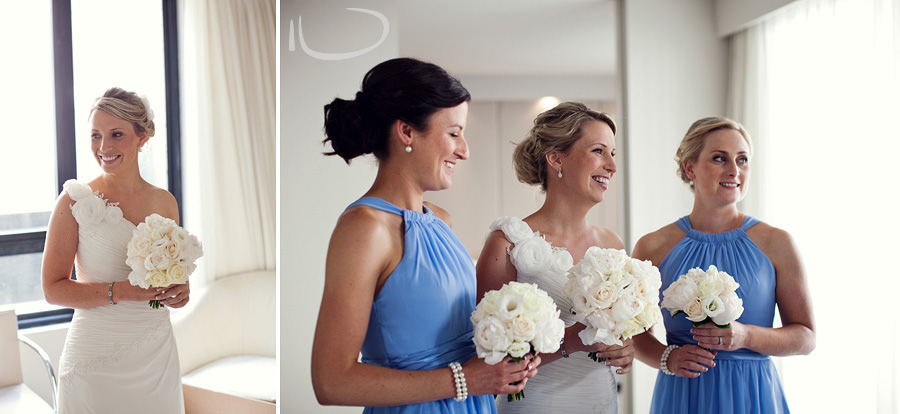 Realm Hotel Wedding Photographer: Bride & bridesmaids