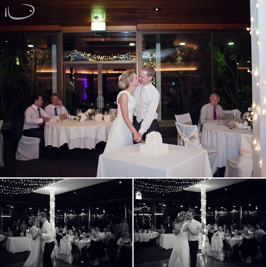 The Lobby Wedding Photographer: Cake cutting & first dance