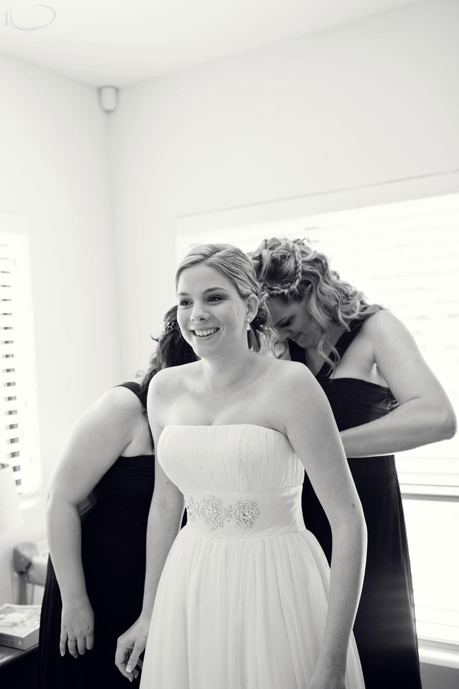 Cronulla Wedding Photographer: Bride getting dressed