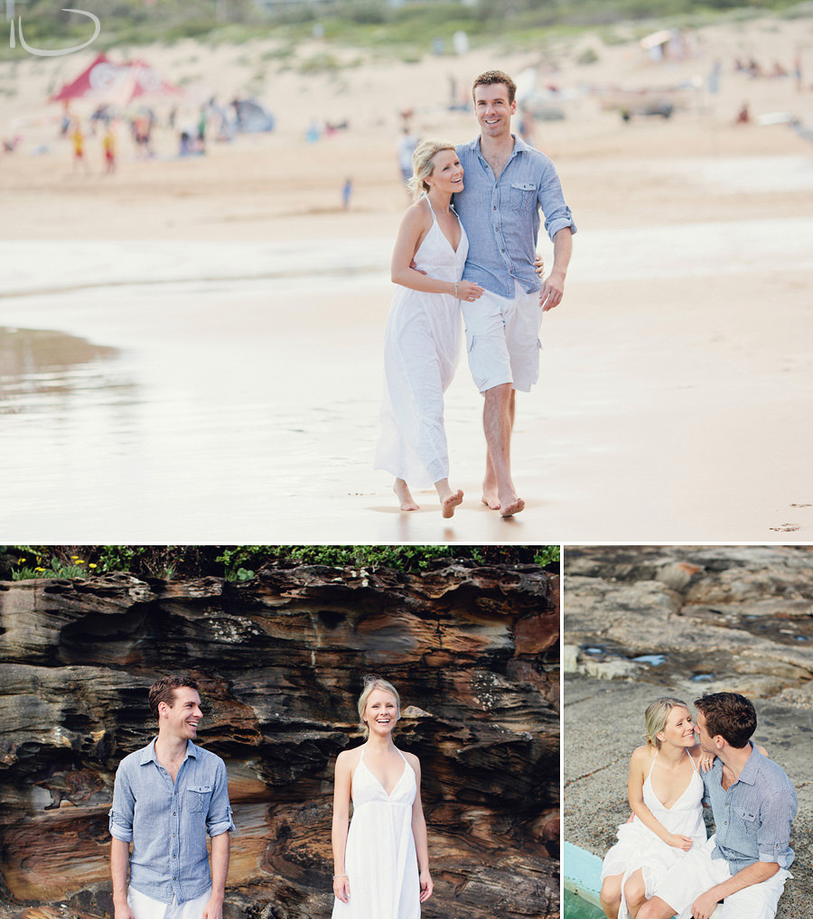 Sydney Engagement Photography: Walking on the beach