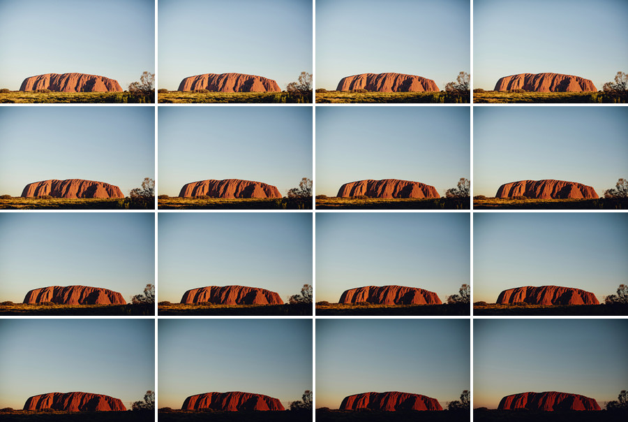 Ayers Rock Photographer: Changing colours of Uluru sunset
