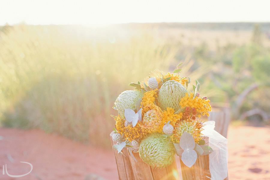 Ayers Rock Elopement Photographer: Australian Native Bouquet