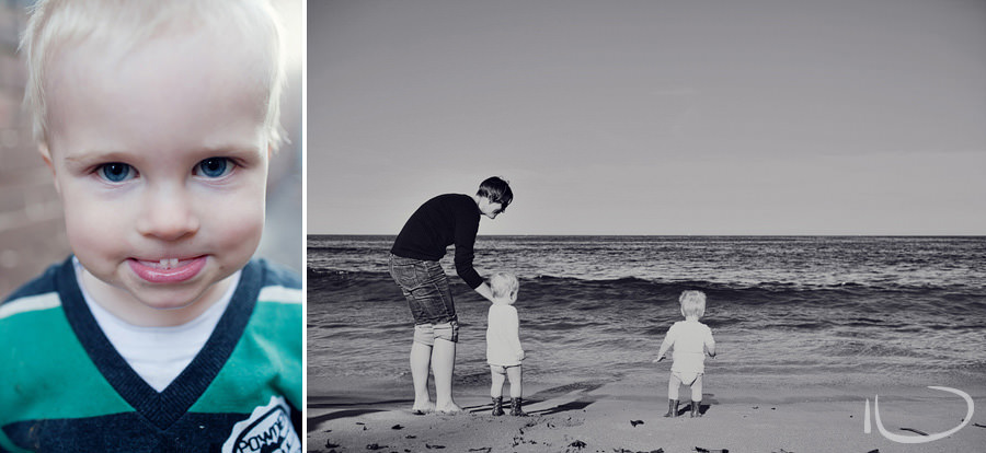 Northern Beaches Baby Photographers: Twins on beach