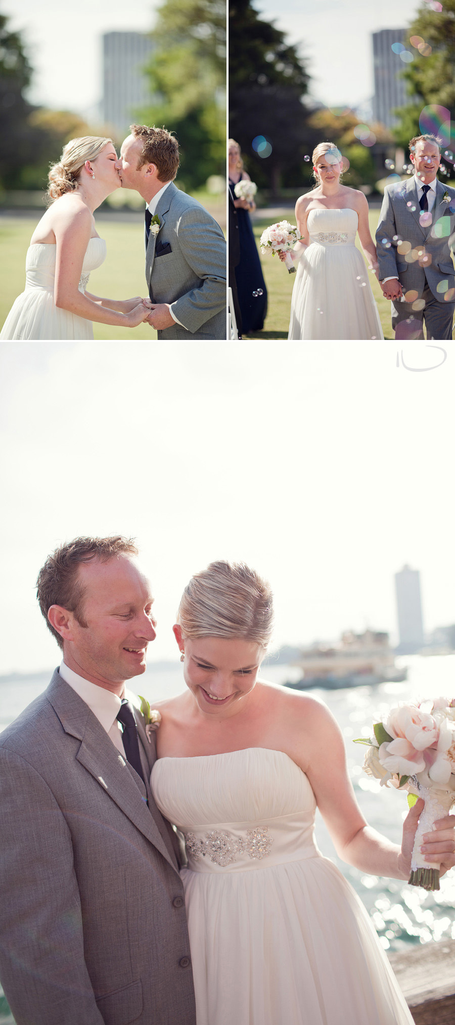 Sydney Wedding Photography: Ceremony first kiss