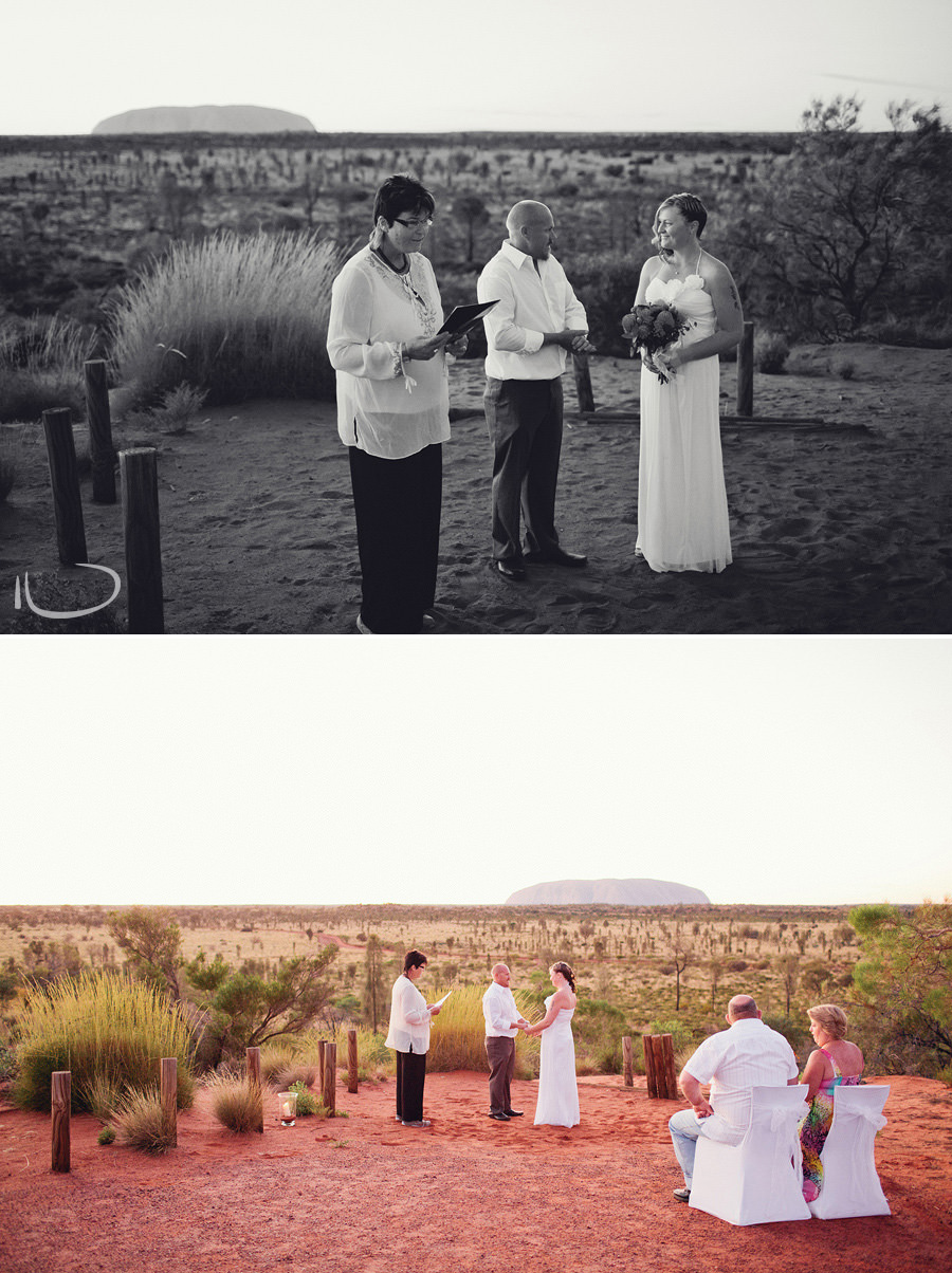 Ayers Rock Wedding Photography: Elopement ceremony