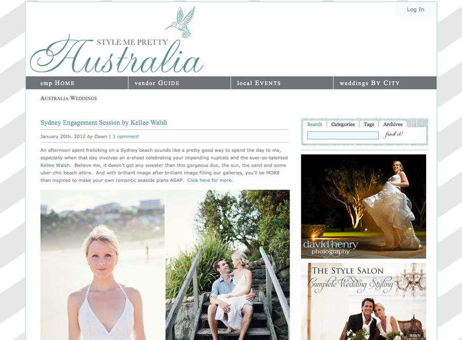 Sydney Wedding Photographer: Style Me Pretty Feature