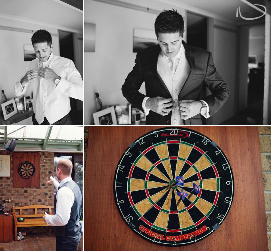 Canberra Wedding Photographers: Groom getting ready