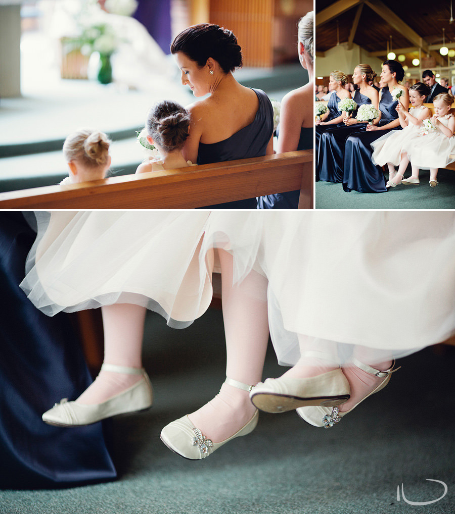 Canberra Wedding Photography: Flowergirls during ceremony