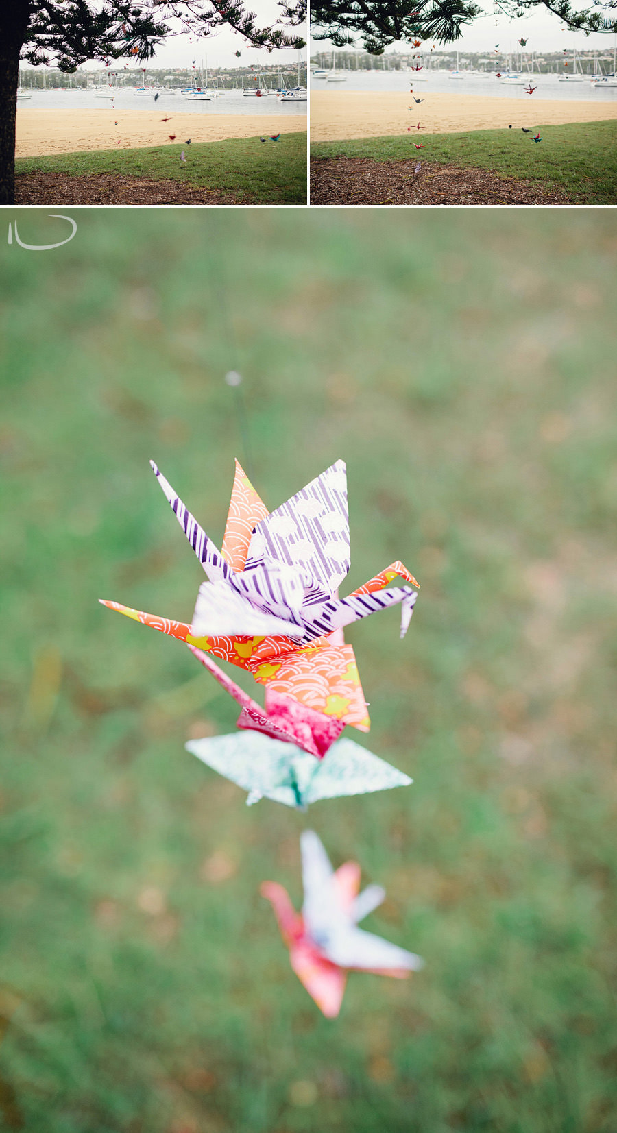 Northern Beaches Wedding Photographer: Paper cranes
