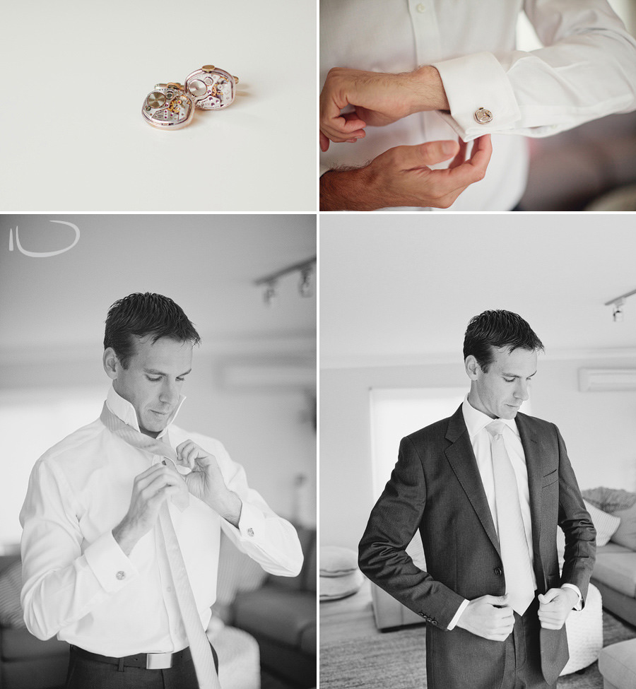 Northern Beaches Wedding Photographers: Groom getting ready