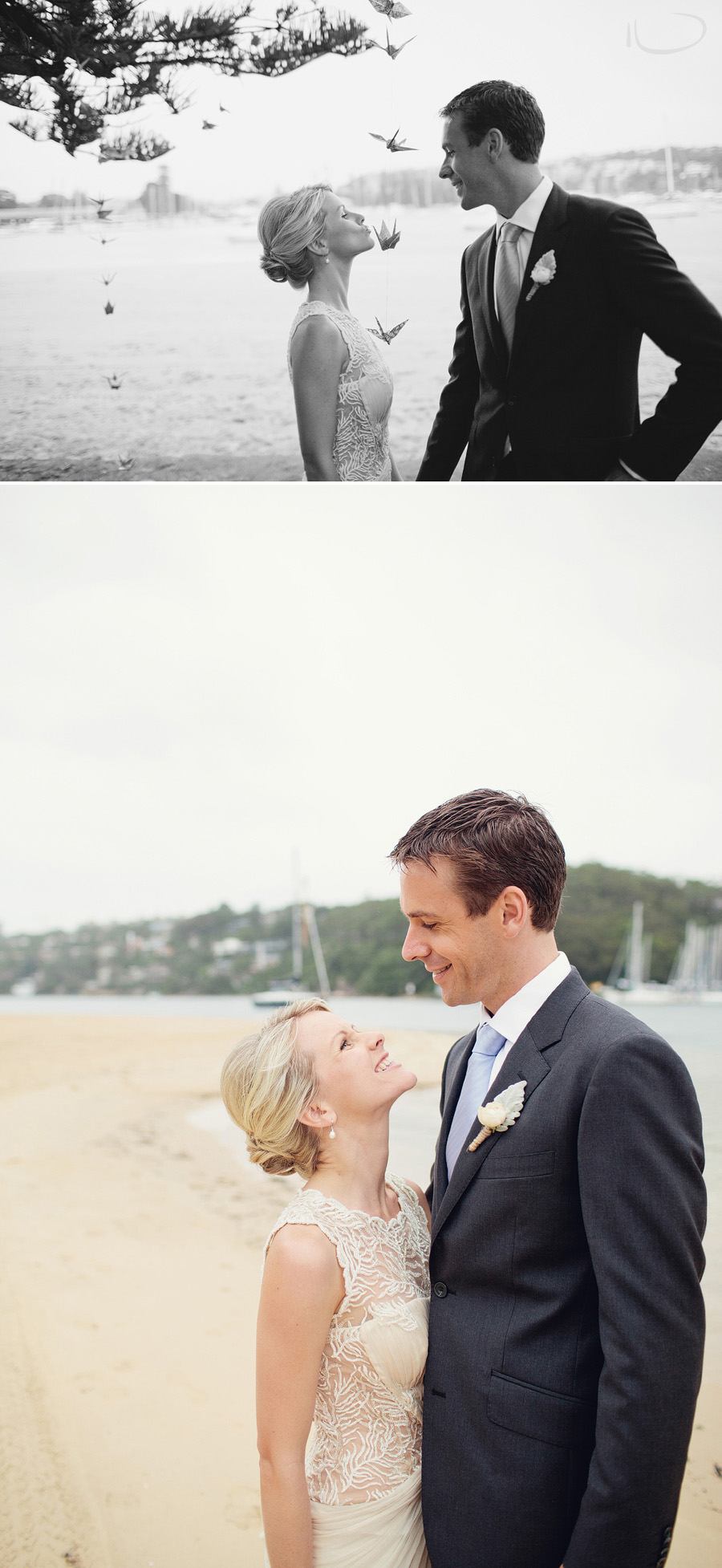 Northern Beaches Wedding Photographers: Bride & Groom portraits at Clontarf