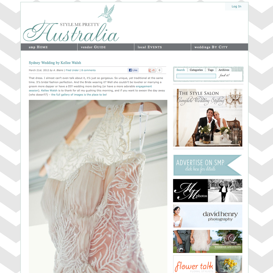 Sydney Wedding Photographer: Featured on Style Me Pretty