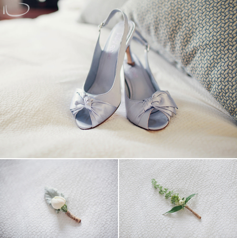Sydney Wedding Photographers: Bride's shoes & boutonnieres