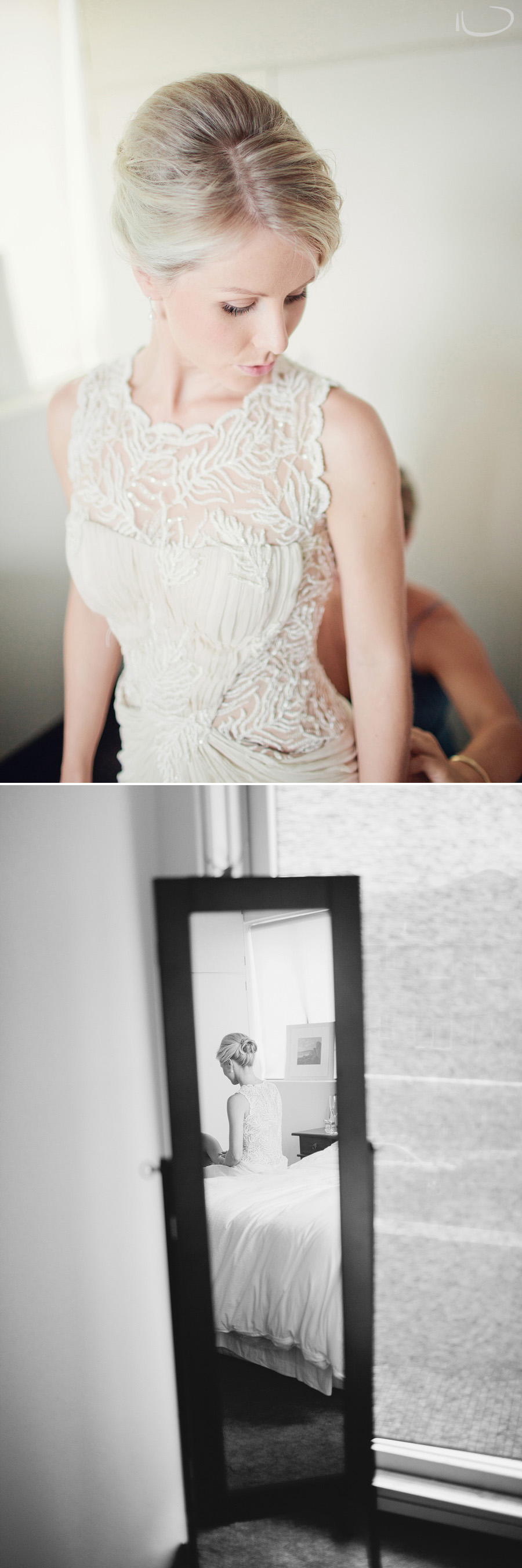 Sydney Wedding Photographers: Bride getting dressed